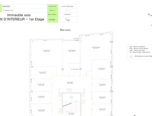 Plan Architecturaux : Immeuble à Nantes – Plan d'intérieur